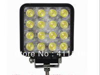 cheap shipping  9-32v  4x4 LED work light /off road light 48W flood beam/LED driving light fog lamp