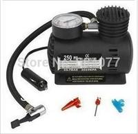 Retail 1pcs/lot mini Portable Car/Auto 12V Electric Air Compressor Tire Inflator 250PSI inflatable pump car styling