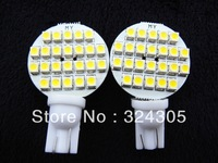 10Pcs T10 194 921 W5W 24 1210 SMD LED RV Landscaping Light car led side Lamp Bulb DC12V Warm White