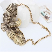 City Girl Min Order 15$ Free Shipping New Arrival Fashion Style Vintage Bronze  Spread Eagles  Necklace  C0160