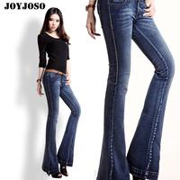 2012 autumn bell bottom jeans all-match low-waist denim trousers female boot cut