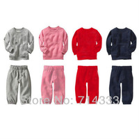 Free Shipping! baby long sleeve t shirt + baby pants, Baby clothing sets, children wear 4 color to choose.