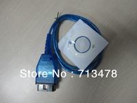 Vag USB OBD-II-2 KKL 409.1 OBD2 Cable VAG-COM For VW / AUDI free shipping with HK post