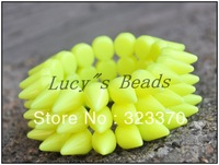 Neon Yellow  Charm Punk 12pcs A lot Acrylic Spikes/Rivet  Beads Bracelet  for Women Jewelry,Elastic Spikes Bracelet Wholesales