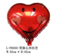100pcs/lot 18 inches foil balloons , heart smiling face,Decoration articles&gift