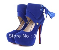 Free shipping ladies shoes 2013 spring new Fashion red bottom platform pumps girls 14cm high heels shoes woman party  SXX02298