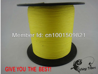 Wholesale - -free shipping-yellow color dyneema braided fishing line fishing tackle 1000M 8LB--80LB--
