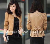 Best Selling !!Fashion Women Slim fit Business Suit Blazer Puffy Sleeves Jacket +Free Shipping