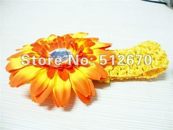 hot sale princess design  head flowers  headband  (orange)--mix color ----clothing/garment accessaries