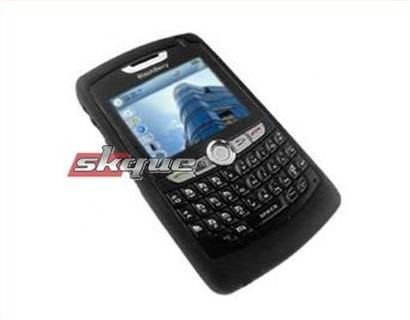 Silicone Silicon Skin Cover Case for Blackberry 8800 8830 PDA Soft Black(China (Mainland))