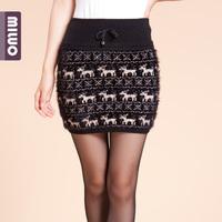 Bust skirt autumn and winter short skirt step skirt slim hip skirt miniskirt wool skirt