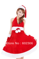 5sets/Lot Christmas party evening dress christmas installation sexy v-neck dress UPS DHL Free shipping