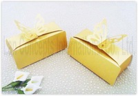 Free shipping DIY Wedding Candy Box Favor Box Folding Paper Box Party Favor Box - 9.5 x 5 x 3.5cm 120pcs/lot LWB0058