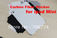 High Quality CARBON FiberBlack Back Vinyl Wrap Sticker Skin Cover for iPad MINI 3 colors 10pcs/lot  free shipping