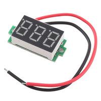 DC 4-30V 2 Wire Red LED Display Digital Voltage Voltmeter Panel Motor Motorcycle