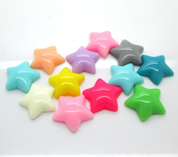 100pcs Resin Star Beads Flatback Cabochon Scrapbook Fit DIY Phone Decoration(China (Mainland))