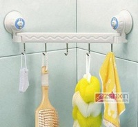 free shipping Suction wall five linked hook high quality 2pcs/lot  Q188