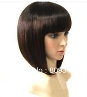 new short brown bob lady's hair full wig+free hairnet(gift)