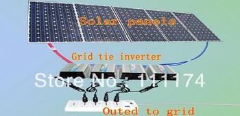 300w New Micro Grid Tie Inverter For Solar Home System MPPT Function DC 12V AC 110V Pure Sine Wave Inverter