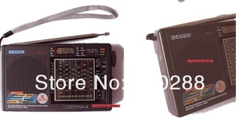 Degen DE1107 all band  radio portable mini clock control FM FM stereo FM shortwave secondary  international broadcast