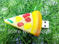 Free Shipping,Guaranteed Full capacity 4GB 8GB 16GB 32GB Pizza food usb flash disk,Christmas gift usb,10pcs/lot