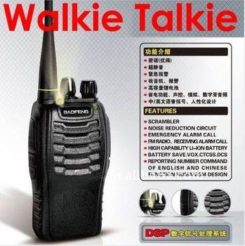Walkie Talkie 2-Way 16CH Radios Transceiver Handheld Interphone Intercom BF-888S