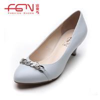 FUGUINIAO spring women's shoes sheepskin women's single shoes f113103f