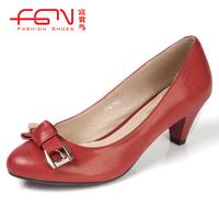 FUGUINIAO 2012 single shoes sheepskin bow classic with women's shoes f187166kf