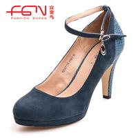 FUGUINIAO small women's high cashmere single shoes platform women's shoes h250711s