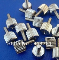 Free shipping hand twist screws computer screw M3 * 8 nickel plating 100pcs/lot