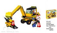 Building Block Set SLuBanM38-B9600 Heavy engineering/excavator 107PCS,3D Block Model,Educational