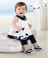 2013 New Children's clothing set for winter,sleeveless skirt shirt+pants 2pcs set, baby suit for girls,free shipping