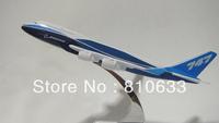 Free shipping cheap 16cm boeing b747 airliner model passenger plane model for birthday gift male decoration