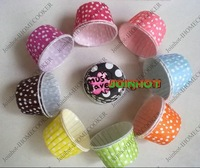 wholesale-free shipping 100pcs cake cup ,cupcake cases ,bake cup,muffin cases,Dessert cup, cake packing, Polka Dot muffin holder