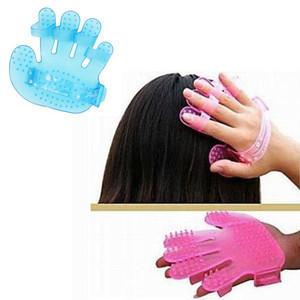 New Shampoo Brush Comb Palm Massager Head Hair Scalp Massage Glove A1147