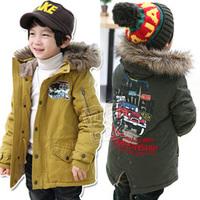 2014 winter car boys clothing baby thickening cotton-padded jacket wadded jacket wt-0959