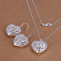Wholsale 2014 new FASHION jewelry 925 Sterling Silver necklace earrings Penoyjewelry S691