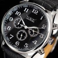 Cool Brand Jarager Men Fashion business luxury  6 Hands Multifunction Date /week Black/white Auto mechanical wrist watches+