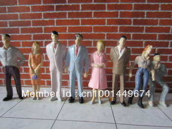 100pcs  1/50 Painted Figures CF-1/50 Railroad People Figure Painted Train Model Human