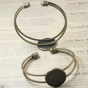 fit 20MM antique bronze bracelets bangles brass base