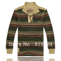 Outerwear male spring and autumn casual clothes camel men's clothing long-sleeve pullover stand collar sweatshirt grid cloth