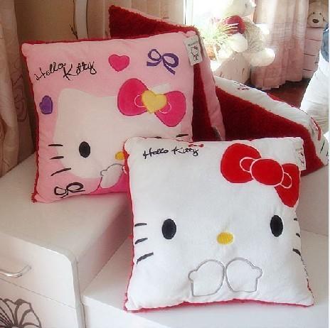 Hello kitty cat pillow HELLO KITTY pillow car sofa cushion lovers design plush toy(China (Mainland))
