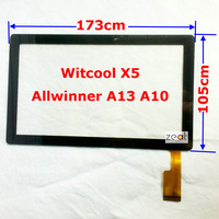 "7"" 7Inch Capacitive Touch Screen Digitizer Glass Replacement for Witcool X5 Allwinner A13 A10 Q88 free shipping"