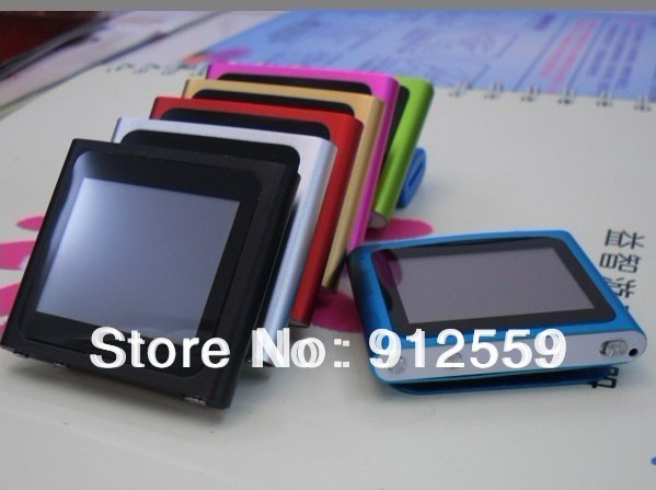 Wholesale 20pcs/Lot Best gifts Touch screen Real 4GB 1.8 inch 6th generation digital MP4 player with FM(China (Mainland))
