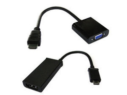 MH-015/HD-057-BK MHL to HDMI &amp; HDMI to VGA Micro USB to VGA for Samsung galaxy i9100 i9220 i9250(China (Mainland))
