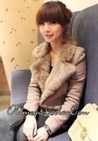 2013 autumn and winter new arrival women's plus size fur collar slim long-sleeve blazer sweatshirt short jacket