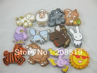 EXPRESS  Free shipping AE070 iron on appliques 1200pcs cartoon shape 12 styles fashion patches for children clothes