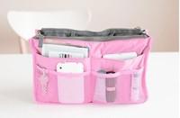 Wholesale 50pcs/lot Lady's travel Organizer Bag Handbag Organizers Insert With Pockets Popular Storage Bags