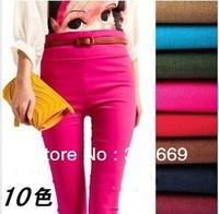 2386 Large size women's Leggings cotton warm elastic  tight pants 5pcs/lot  free shipping