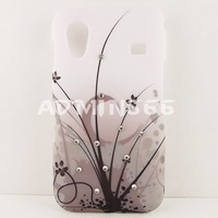 Midnight Flower Spot Bling Hard Case Cover For Samsung galaxy ace  s 5830